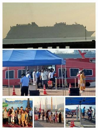 Kapal Cruise MV.Genting Dream Berlabuh di Pelabuhan Celukan Bawang Kec. Gerokgak