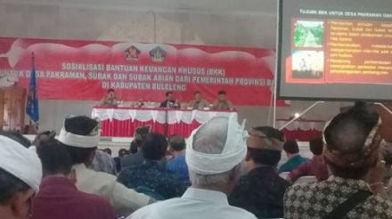 SOSIALISASI BKK UNTUK DESA PAKRAMAN SUBAK/SUBAK ABIAN TAHUN 2019