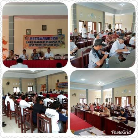 Musdes Dalam Rangka Penyusunan RKP Desa Pengulon Tahun 2020