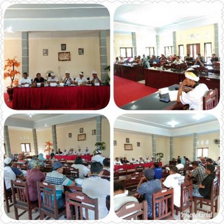 Pembentukan Pengurus Bumdes dan Penyampaian Laporan Akhir Masa Jabatan Perbekel Tahun 2013-2019