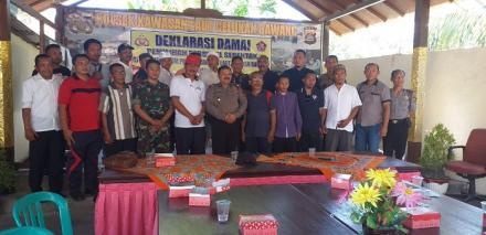 Kapolsek Kawasan Laut Celukan Bawang Menggelar Deklarasi Damai Pilkel Tahun 2019