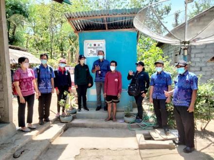 Monev pelaksanaan PKTD STBM Plus oleh Dinas Kesehatan di Desa Pengulon
